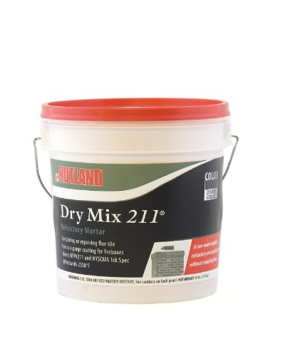 Rutland 211 Fireplace Dry Mix Patch (Fireplace Mortar Gray compare prices)