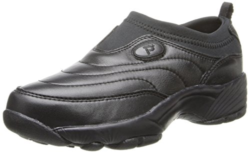Propet Womens Washable Walker Shoe (Propet Women's W3851 Wash & Wear Slip-On,Black,9.5 X (US Women's 9.5)