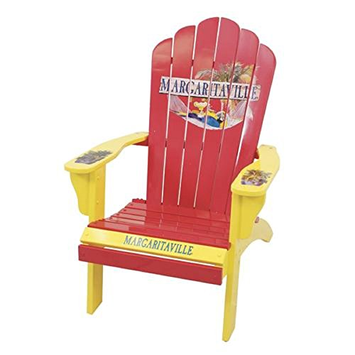 Amazon Com Margaritaville Red Adirondack Patio Chair