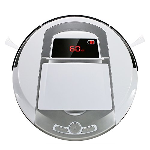 Robotic Vacuum Cleaner, Rechargeable Robotic Vacuum with Strong Suction and HEPA Double Filter, Anti-Cliff and Anti-Bump Sensor Robot for Pet Hair, Fur, Allergens, Thin Carpet, Hardwood and Tile Floor by FORTUNE DRAGON (Image #9)