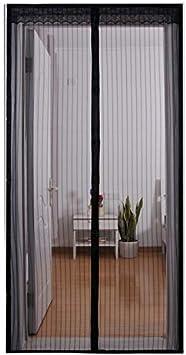 laamei Mosquitera Magnética para Puertas Cortina de Malla de Puerta Anti Insectos Moscas y Mosquitos Mosquitera Puerta Exterior Magnética Corredera Cortina Automáticamente Cierra(90x210cm): Amazon.es: Hogar