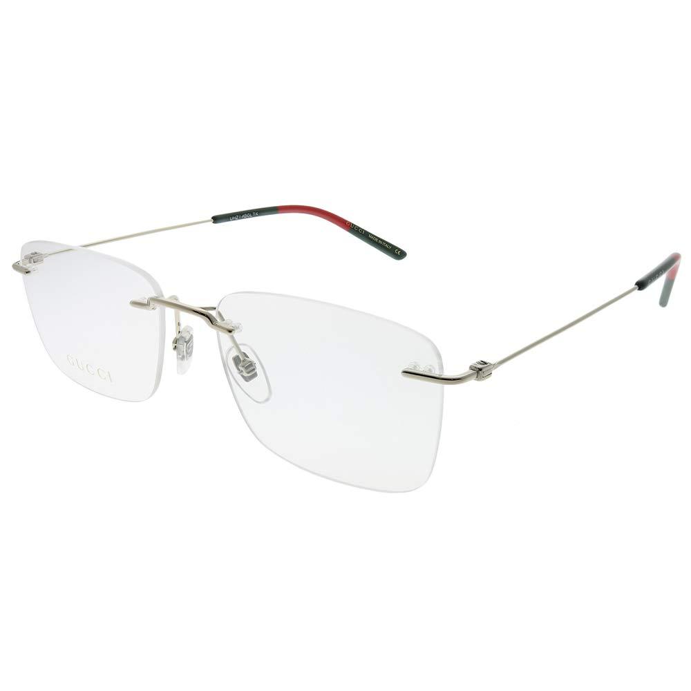 294e1d3e255 Amazon.com  Gucci GG 0399O 004 Gold Metal Rimless Eyeglasses 56mm  Clothing