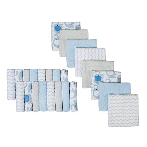 Baby Washcloths | Extra Soft and Ultra Absorbent Bath Towel | Great Gifts for Newborn and Infants | 24 Pack from softan