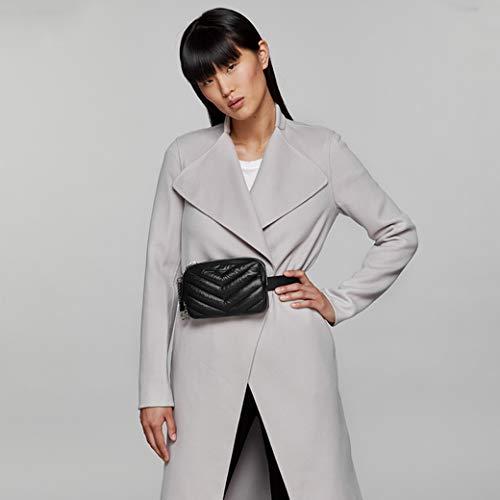 Mackage Women's Jayme Nylon Money Belt Bag, Black/Gunmetal, One Size