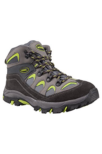 Mountain Warehouse Oscar Kinder Jungen Mädchen Velour Wanderstiefel Schuhe Stiefel Wanderschuhe Limette 34