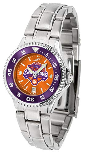 (Clemson Tigers National Championship - Competitor Ladies' Steel AnoChrome - Color Bezel)