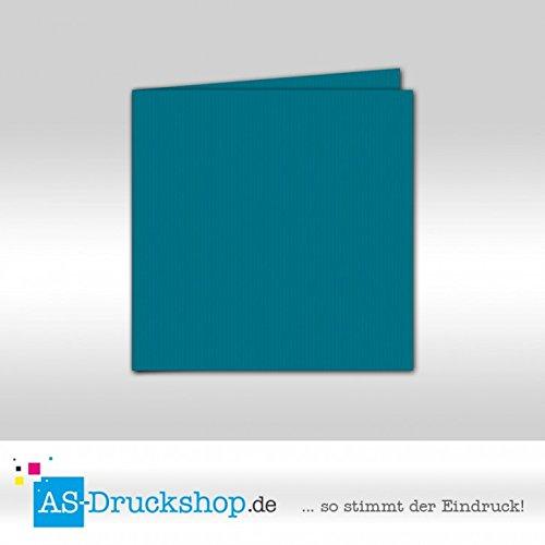 Faltkarte Doppelkarte - Petrol 50 50 50 Stück Quadratisch 155 x 155 mm B079529ZZC | Deutschland Shop  103921