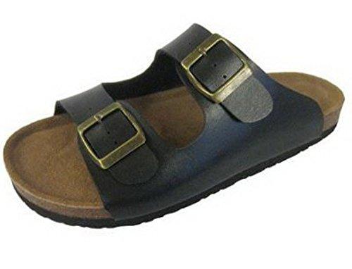 Sandalias Clásicas para mujer con dos correas. negro