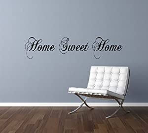 Home Sweet Home Wall Art Sticker Decal Quote 24 Colours To Choose(WAQ 001) Part 48