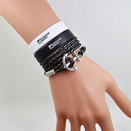 Amazon Com 2018 Anchor Bracelet Male Korean Men Bracelet Hand The