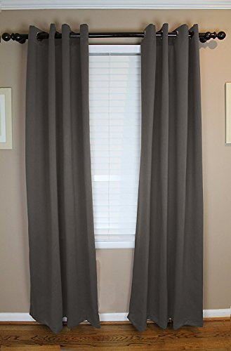 Calyx Interiors Blackout Grommet Curtain 2-Pack Set, 52