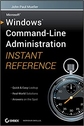 Amazon com: Windows Command Line Administration Instant Reference