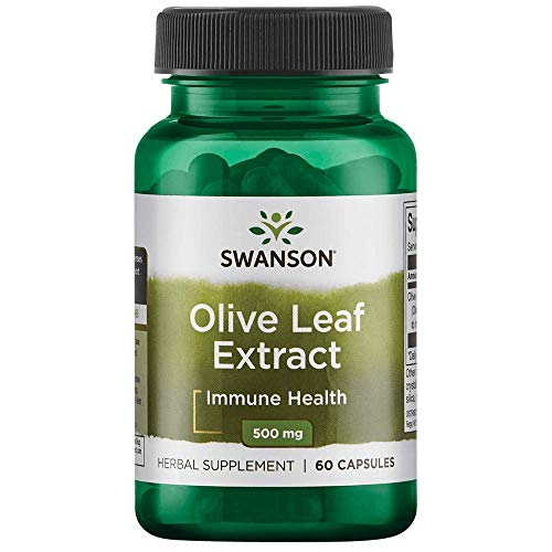 Swanson Olive Leaf Extract Immune Health Cardiovascular Health Antioxidant Support Super Strength Supplement 750 mg 60 Capsules (standardized to 20% oleuropein)