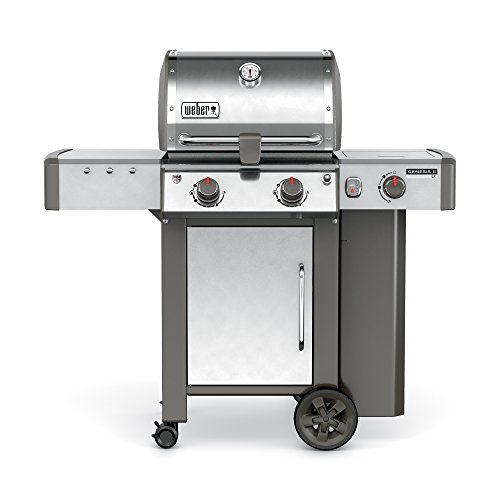 Weber 60004001 Genesis II LX S-240 Liquid Propane Grill, Stainless (Two Side Burners)