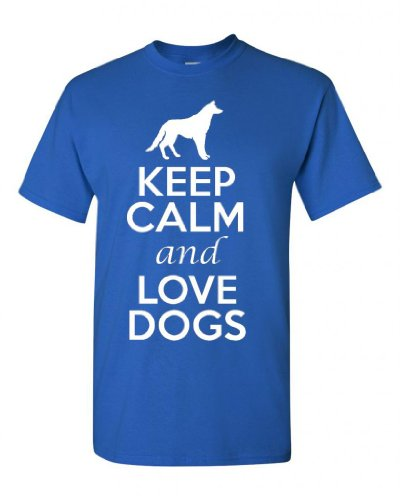 City Shirts Keep Calm and Love Dogs Adult T-shirt Tee
