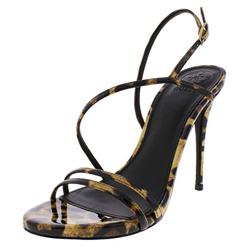 GUESS Womens Tilda Open Toe Special Occasion Strappy Sandals, Brown, Size ()