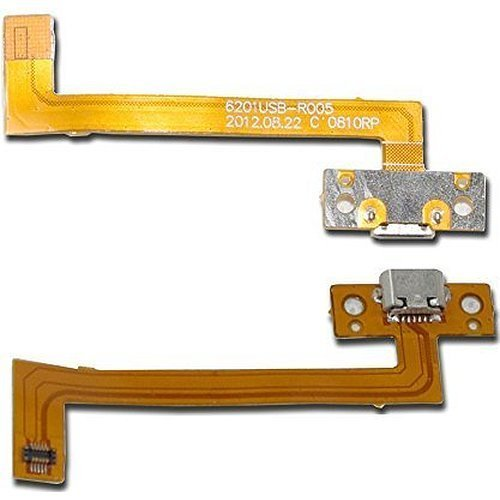 wangpeng® Generic Micro USB Charging Port Jack Ribbon Flex Cable Compatible Kobo Arc K107 eReader Tablet