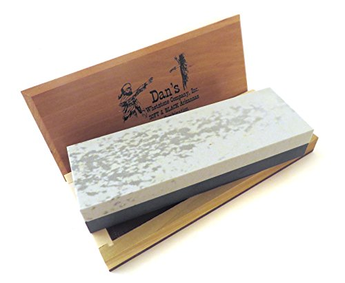 (Genuine Arkansas Combination Soft (Medium) and Black Surgical (Ultra Fine) Knife Sharpening Bench Stone Whetstone 6