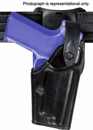Safariland 6285 1.50in. Belt Drop, Level II Retention Holster - Basket Black, Left Hand (Drop Belt 6285 Duty Holster)