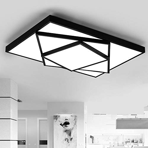 FidgetGear Modern LED Square Stack Ceiling Light Square Pendant Lamp Lighting AC 85-260V 63cm40cm10cm 36W Black Cool White(no dimming) by FidgetGear (Image #2)