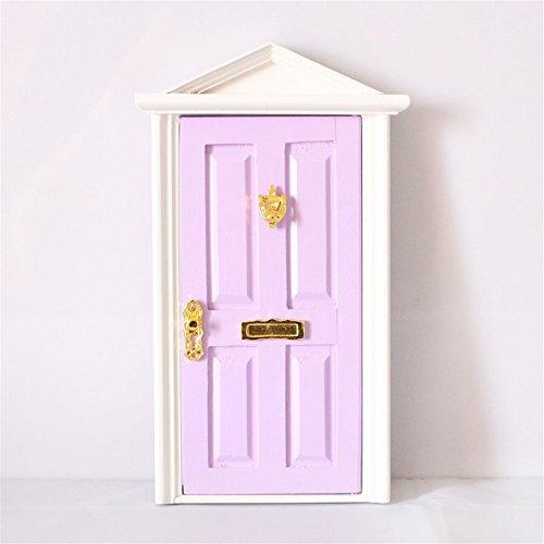 dreamflyingtech 1:12 Purple Miniature Wooden Fairy Dollhouse Dolls with Hardware Décor Kid by dreamflyingtech (Image #1)
