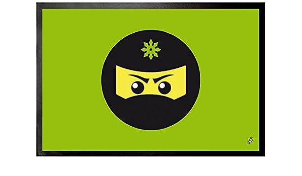 1art1 Gaming - Icono Ninja, Verde Felpudo Alfombra (60 x 40cm ...