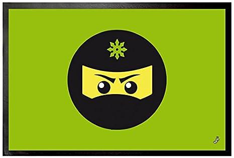 Amazon.com: 1art1 Gaming Door Mat Floor Mat - Ninja Icon ...