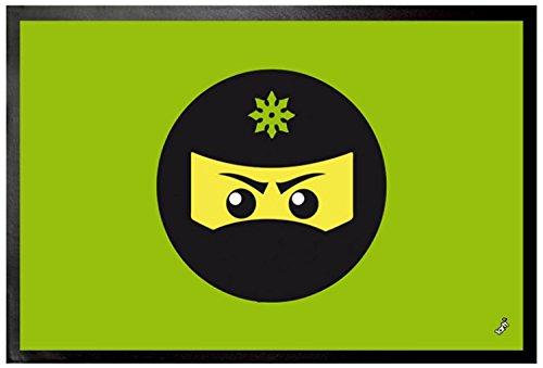 1art1 Gaming - Icono Ninja, Verde Felpudo Alfombra (60 x ...