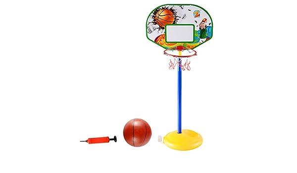 YeahiBaby Canasta de Baloncesto Ajustable con Inflador y ...