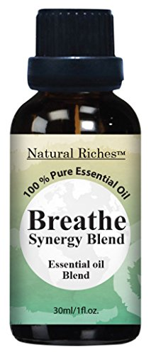 Respiratory Essential Oil Breathe Blend 30ml – 100% Natural Pure Therapeutic Grade for Aromatherapy, Scents & Diffuser – Sinus Relief, Allergy, Congestion, Cold, Cough, Headache
