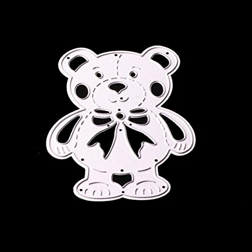 Fdc Bear - Xennos Bear Metal Cutting Dies for Scrapbooking Stencils for Craft Paper DIY Scrapbook Dies Cut Template - (Color: FDC-998)