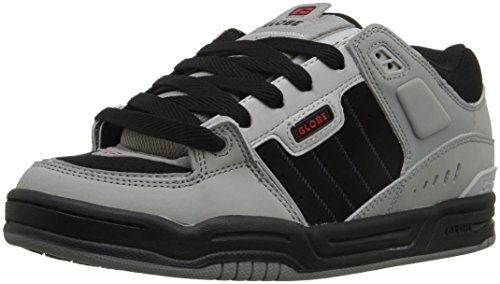 Globe Men's Fusion Skateboarding Shoe, Grey/Black/Red, 6 M US - 6 Fusion Red