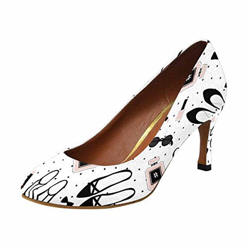InterestPrint Womens Classic Fashion High Heel Dress Pump Fashion Accessories Pattern Cute Fashion Illustration kMhFRf