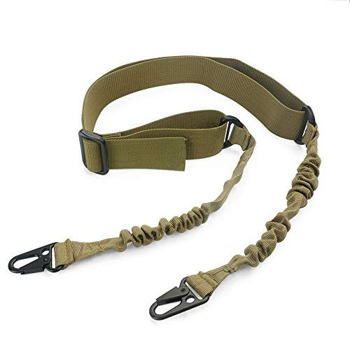 Feyachi 2 Point Gun Sling/Gun Strap/Rifle Strap with Metal,Hook Army Green.