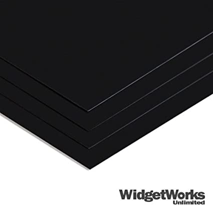 BLACK Styrene Thermoform Plastic Sheets 0 020
