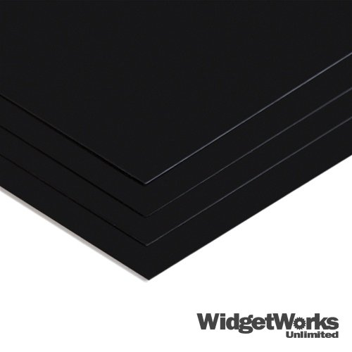 BLACK Styrene Thermoform Plastic Sheets 0.020