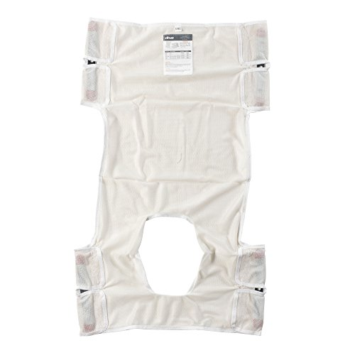 - Drive Medical Patient Lift Sling, Polyester Mesh with Commode Cutout