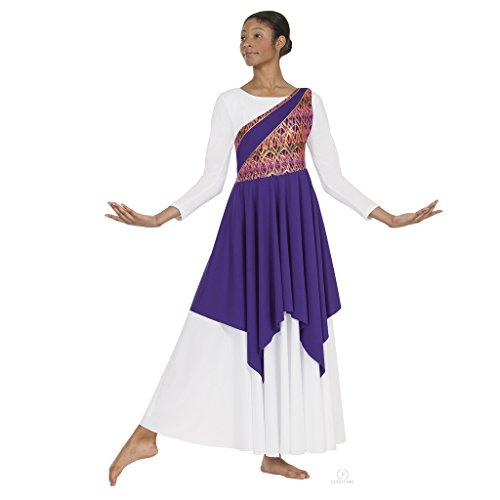 Eurotard 63567c Child Joyful Praise Asymmetrical Tunic