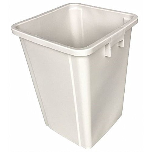Beige Square Container - Tough Guy 4PGR9 Square Container, Beige, 19 G