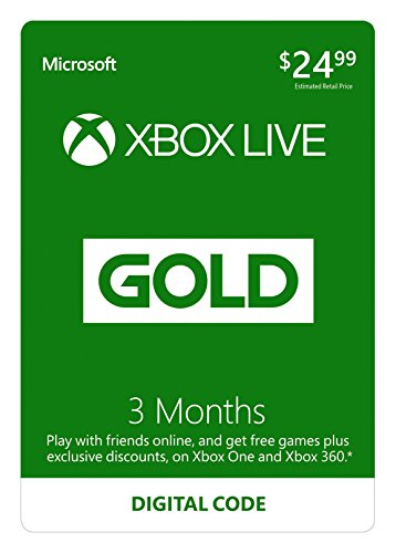 3 Month Xbox Live Gold Membership - [Digital Code] (Gold Membership Xbox Live)