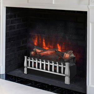 Duraflame DFI021ARU-03 Electric Log Set Heater with Realistic Ember Bed, Nickel