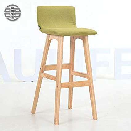Backrest Solid Wood Bar Chair Bar Chair Bar Stool Bar Stool Simple Household High Chair Front Desk Chair. Bar Chairs Furniture