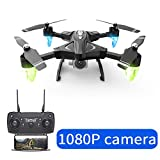ACHICOO F69 WiFi FPV Camera High Hold Mode Foldable Flight Time 18 Minutes RC Drone 1080P Kids Gifts