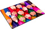 MSD Place Mat Non-Slip Natural Rubber Desk Pads Design 20213114 Colour Pencils Isolated on White Background Back to School Concept
