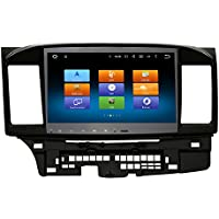 SYGAV Octa-core 2GB RAM Android 6.0 Marshmallow Car Stereo Radio for 2008-2013 Mitsubishi Lancer EVO X Supports Rockford Fosgate AMP with Video Player GPS Navigation