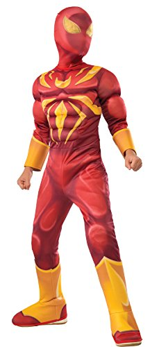 [UHC Boy's Iron Spider Muscle Chest Jumpsuit Child Fancy Dress Halloween Costume, Child S (4-6)] (Iron Spider Costume)