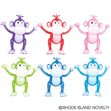 Monkey 24 Inflatable - Set of 6 Inflatable COLORFUL 24