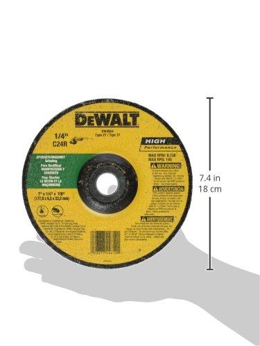 DEWALT DW4554 7-Inch by 1//4-Inch by 7//8-Inch Masonry Grinding