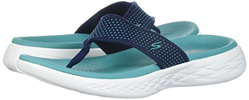 Bleu go 15300 Turquoise 600 Tongs Femme Marine Skechers the On UXq0txF