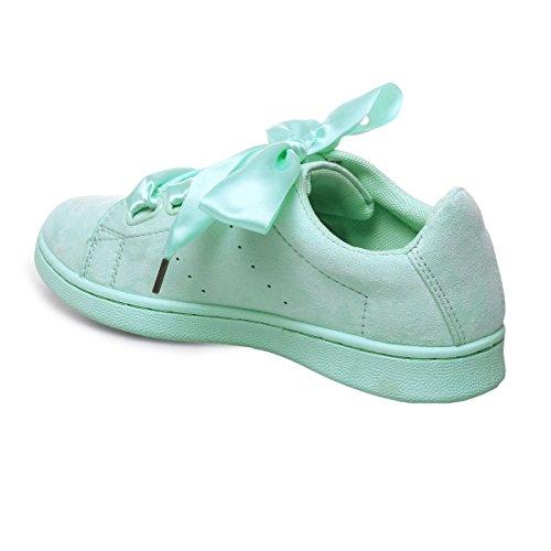 La Modeuse - Zapatillas de deporte para mujer azul claro